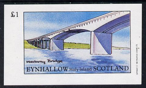 Eynhallow 1982 Bridges (Medway) imperf souvenir sheet (�1 value) unmounted mint