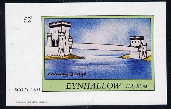 Eynhallow 1982 Bridges (Conway) imperf deluxe sheet (�2 value) unmounted mint