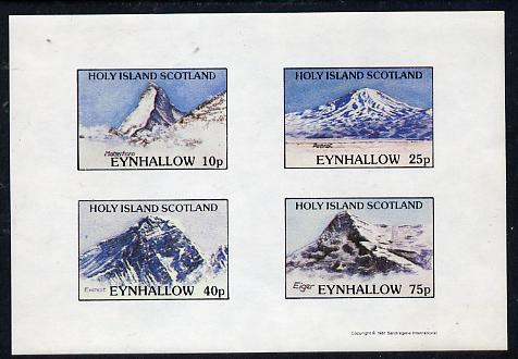Eynhallow 1981 Mountains (Matterhorn, Ararat, Everest & Eiger) imperf  set of 4 values (10p to 75p) unmounted mint