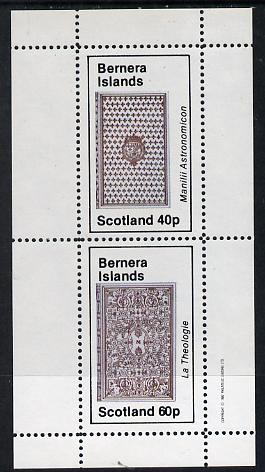 Bernera 1982 Ornate Book Covers #1 perf set of 2 (40p & 60p)