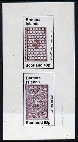 Bernera 1982 Ornate Book Covers #1 imperf set of 2 (40p & 60p)