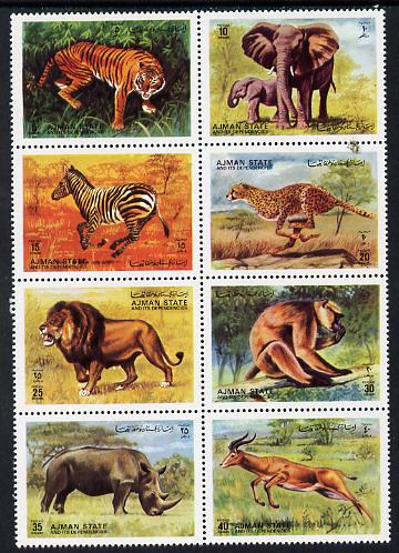Ajman 1972 Animals perf set of 8 unmounted mint, Mi 1304-11A