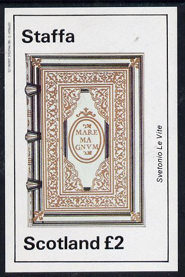 Staffa 1982 Ornate Book Covers #1 imperf deluxe sheet (�2 value)