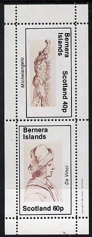 Bernera 1981 Sketches (Michelangelo & da Vinci) perf  set of 2 values (40p & 60p) unmounted mint