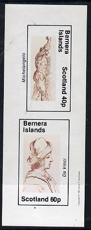 Bernera 1981 Sketches (Michelangelo & da Vinci) imperf  set of 2 values (40p & 60p) unmounted mint