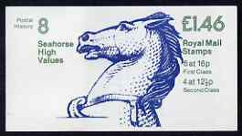 Booklet - Great Britain 1981-85 Postal History series #08 (Seahorse High Values) \A31.46 booklet complete with cyl number in margin at left SG FO1A