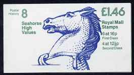 Booklet - Great Britain 1981-85 Postal History series #08 (Seahorse High Values) \A31.46 booklet complete with cyl number in margin at right SG FO1B
