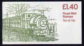 Booklet - Great Britain 1979-81 Industrial Archaeology Series #6 (Talyllyn Railway) \A31.40 folded booklet with cyl number in margin at left SG FM2A