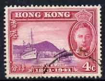 Hong Kong 1941 KG6 Centenary of British Occupation 4c cds used SG164