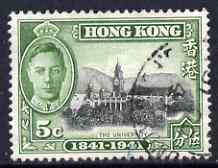 Hong Kong 1941 KG6 Centenary of British Occupation 5c cds used SG165