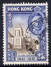 Hong Kong 1941 KG6 Centenary of British Occupation 25c cds used SG167
