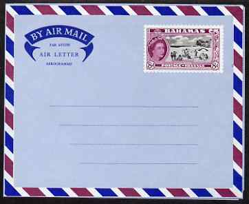 Aerogramme - Bahamas 1954 8d Air Letter form unused and fine H&G F3A