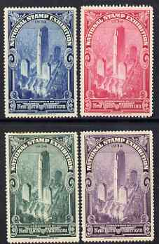 Cinderella - United States 1934 National Stamp Exhibition set of 4 perf labels mounted mint