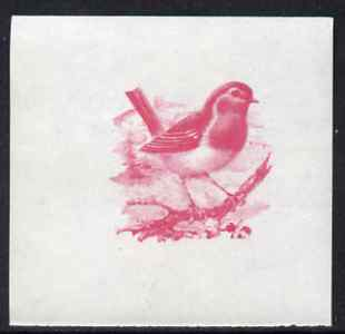 Calf of Man 1973 Birds - Robin 10m imperf proof in magenta only on gummed paper, unmounted mint as Rosen CA257