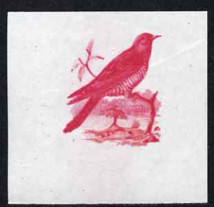 Calf of Man 1973 Birds - Cuckoo 12m imperf proof in magenta only on gummed paper, unmounted mint as Rosen CA258