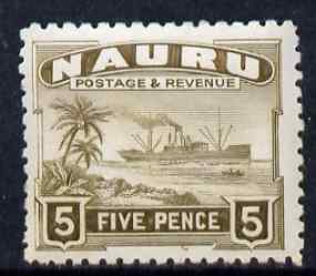 Nauru 1924-48 Century 5d mounted mint SG 33, stamps on , stamps on  kg5 , stamps on ships