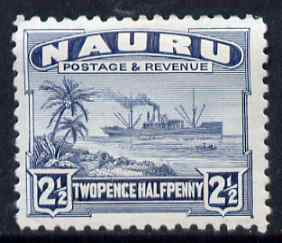 Nauru 1924-48 Century 2.5d mounted mint SG 30, stamps on , stamps on  kg5 , stamps on ships