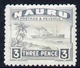 Nauru 1924-48 Century 3d mounted mint SG 31, stamps on , stamps on  kg5 , stamps on ships