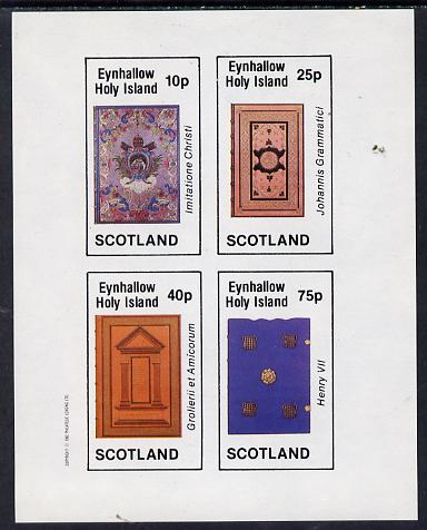 Eynhallow 1982 Ornate Book Covers #1 imperf set of 4 (10p to 75p)