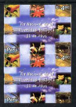 Peru 2002  Biological Conference 4$80 imperf pair unmounted mint
