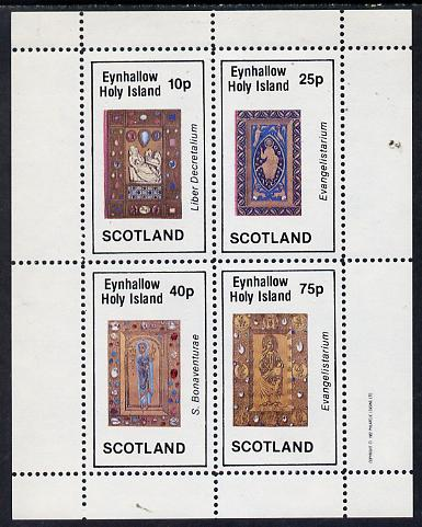 Eynhallow 1982 Ornate Book Covers #2 perf set of 4 (10p to 75p)