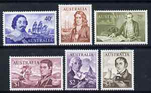 Australia 1966 Navigators set of 6 (40c to $4) unmounted mint, SG 398-403