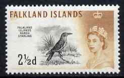 Falkland Islands 1960-66 Long-tailed Meadowlark 2.5d from def set unmounted mint, SG 196