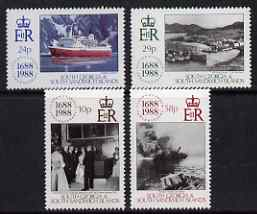 South Georgia & the South Sandwich Islands 1988 300th Anniversary of Lloyd's of London perf set of 4 unmounted mint, SG 183-86
