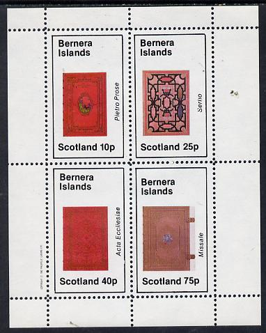 Bernera 1982 Ornate Book Covers #3 perf set of 4 (10p to 75p)