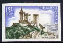 France 1957 Tourist Publicity - Chateau de Foix15f  IMPERF unmounted mint as SG 1351a (Yv 1175)