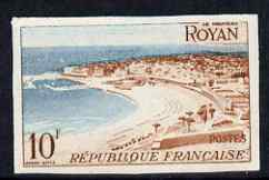 France 1954-58 View of Royan 10f from Views set of 8 IMPERF unmounted mint as SG 1207 (Yv 978)