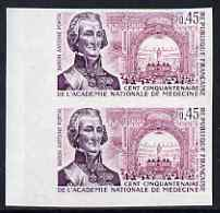 France 1971 150th Anniversary of National Aceademy of Medicine IMPERF pair unmounted mint, as SG 1941