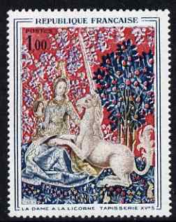 France 1964 French Art - The Lady & the Unicorn (15th-century tapestry) unmounted mint, SG 1639