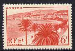 France 1946-48 Cannes 6f unmounted mint, SG 977