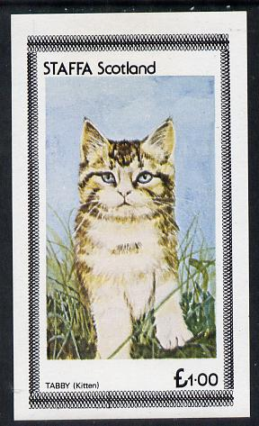 Staffa 1977 Cats (Tabby Kitten) imperf souvenir sheet (�1 value) unmounted mint