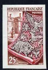 France 1953 Tapestry 25f (from National Industries set) IMPERF unmounted mint as SG 1166 (Yv 970)