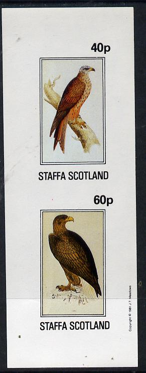 Staffa 1981 Birds of Prey #03 imperf  set of 2 values (40p & 60p) unmounted mint