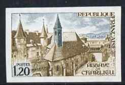 France 1972 Charlieu Abbey 1.20f imperf unmounted mint (from Tourist Publicity set), as SG 1959 (Yv 1712)
