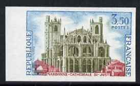 France 1972 St Just Cathedral, Narbonne 3.50f imperf unmounted mint (from Tourist Publicity set), as SG 1961 (Yv 1713)
