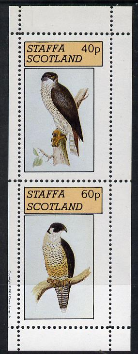Staffa 1981 Birds of Prey #04 perf  set of 2 values (40p & 60p) unmounted mint