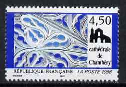 France 1996 Details of trompe l'oeil by Casmir Vicario, Chambery Catherdral (from Tourist Publicity set) unmounted mint, SG 3333