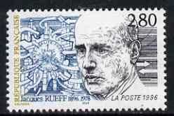 France 1996 Birth Centenary of Jacques Rueff (economist) unmounted mint, SG 3315