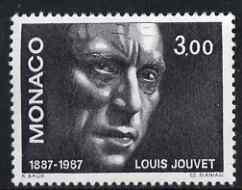 Monaco 1987 Birth Centenary of Louis Jouvet (actor) unmounted mint, SG 1843