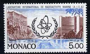 Monaco 1987 25th Anniversary of International Marine Radioactivity Laboratory 5f unmounted mint, SG 1842