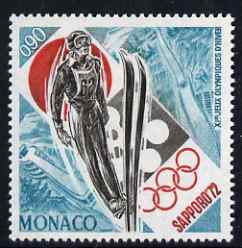 Monaco 1972 Sapporo Winter Olympic Games (Ski Jumping) unmounted mint, SG 1038