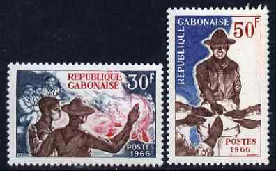 Gabon 1966 Scouting set of 2 unmounted mint, SG 270-71