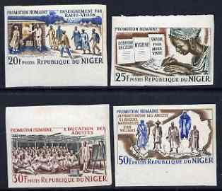 Niger Republic 1965 Human Progress set of 4 IMPERF unmounted mint, as SG 193-96