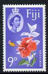 Fiji 1962-67 Hibiscus 9d upright watermark unmounted mint SG 315