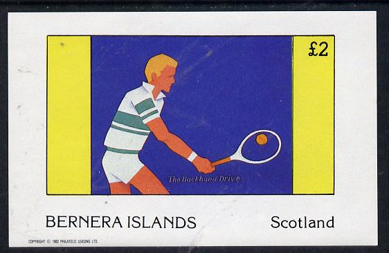 Bernera 1982 Tennis imperf deluxe sheet (�2 value) unmounted mint