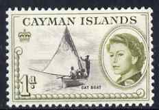 Cayman Islands 1962-64 Cat Boat 1d unmounted mint, SG 166